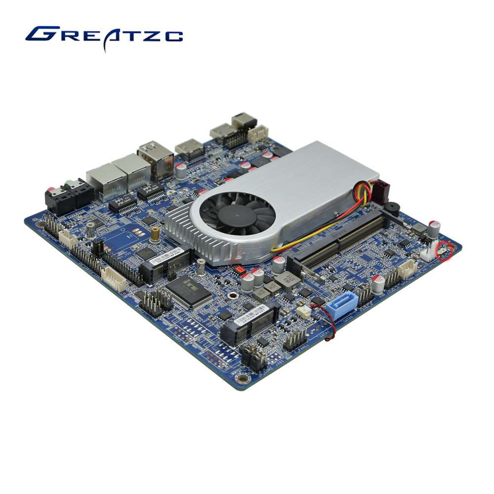 ZC-T6200DL Dual LAN Mini ITX Motherboard Support 4K With CPU Core I5 6200U