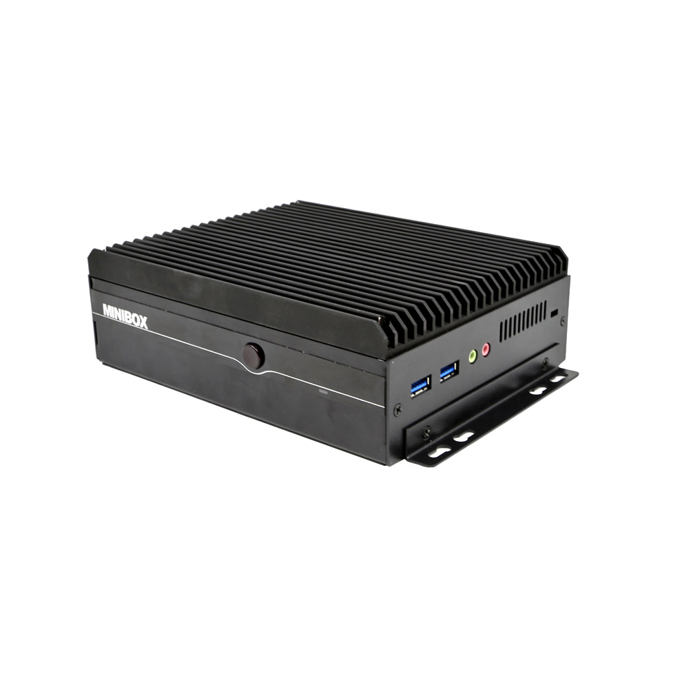 ZC-G6200DL-6C With 2 RJ45 Fanless i5 6200u Industrial Desktop Computer 6 RS232 R